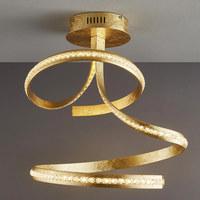 LED-DECKENLEUCHTE - Goldfarben, Design, Metall (53/43/57cm) - Ambiente