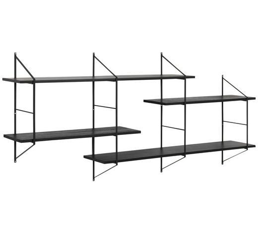 REGAL in 191/79/25,5 cm Schwarz  - Schwarz, Design, Holz/Metall (191/79/25,5cm) - Lomoco