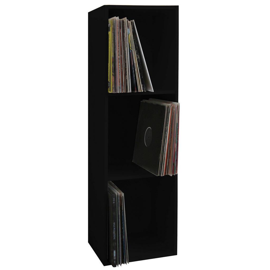 XXXL CD-REGAL Schwarz   Wohnzimmer > TV-HiFi-Möbel > CD- & DVD-Regale   Holzwerkstoff   XXXL Shop