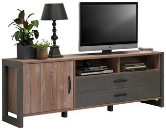 TV DÍL - barvy borovice/černá, Trend, kov/kompozitní dřevo (189,5/67,8/43,1cm) - Carryhome