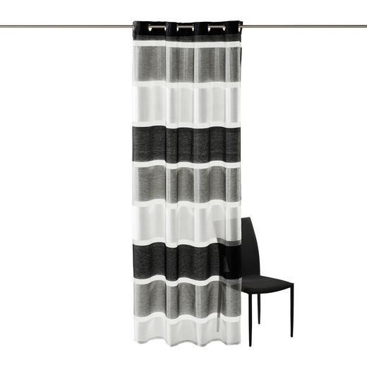 ÖSENSCHAL   140/245 cm - Schwarz, Basics, Textil (140/245cm) - ESPOSA