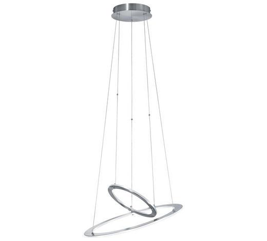 LED-HÄNGELEUCHTE - Nickelfarben, Design, Metall (55/55/17cm)