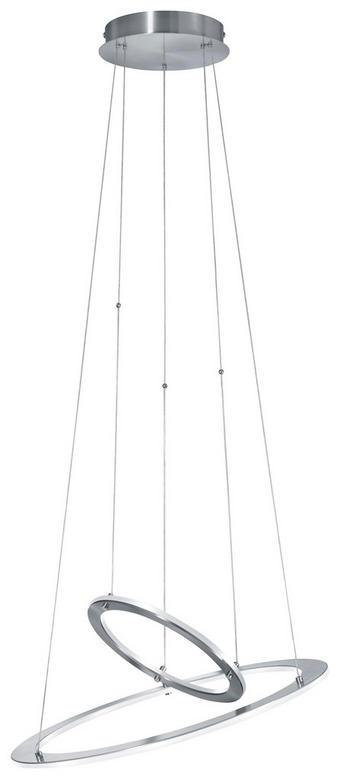 LED ZÁVĚSNÉ SVÍTIDLO - barvy niklu, Design, kov (55/55/17cm) - AMBIENTE
