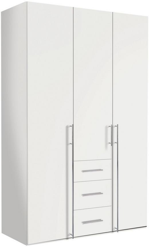 DREHTÜRENSCHRANK in Weiß - Chromfarben/Weiß, Design, Holzwerkstoff/Metall (150/236/58cm) - Hom`in