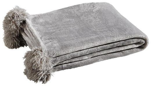 PLAID MIT POMPOM´S Grau - Grau, Trend, Textil (170/130/1cm)