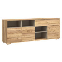 SIDEBOARD melaminharzbeschichtet Eichefarben  - Eichefarben, Design, Holz/Holzwerkstoff (187/70/41cm) - Linea Natura