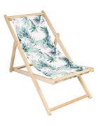 PLÁŽOVÉ KŘESLO - zelená/přírodní barvy, Konvenční, dřevo/textil (57/69-87/102cm) - Ambia Garden