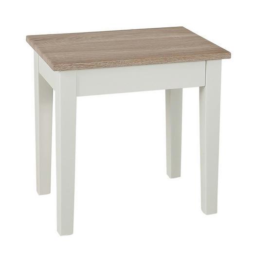 BEISTELLTISCH Sonoma Eiche, Weiß - Weiß/Sonoma Eiche, Design, Holz (43/42/30cm)