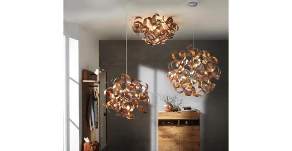 LED-HÄNGELEUCHTE 60/180 cm  - Chromfarben/Kupferfarben, Design, Metall (60/180cm) - Ambiente