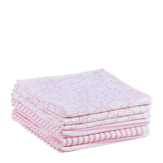 STOFFWINDEL - Rosa/Weiß, Basics, Textil (75/75cm) - My Baby Lou