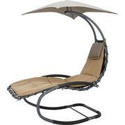LEŽALJKA VRTNA - crna/antracit, Design, metal/tekstil (85/180/175cm) - Ambia Garden