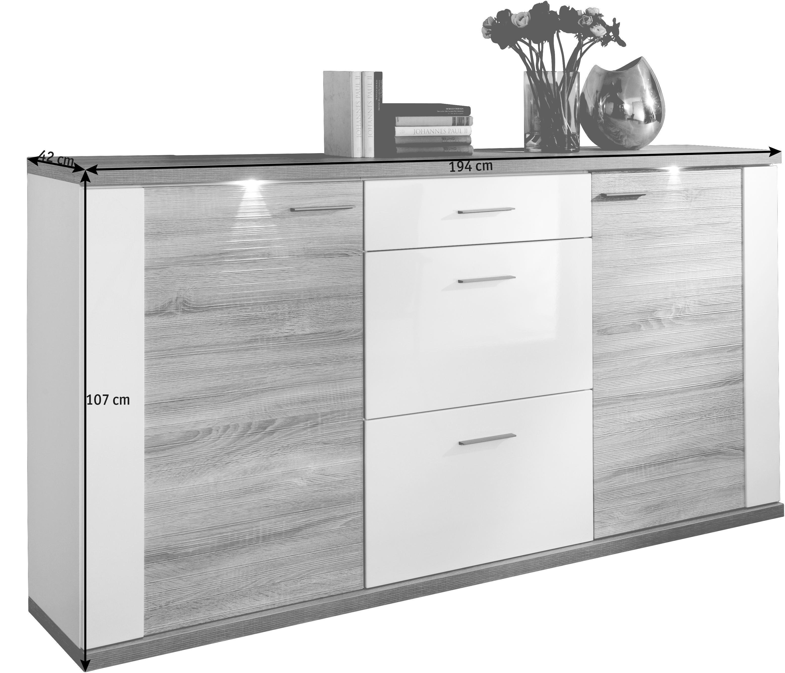 Sideboard Chromfarben Eichefarben Design Holzwerkstoff Kunststoff Xora?upscaleu003dpaddu0026wu003d520u0026hu003d470u0026qltu003d90