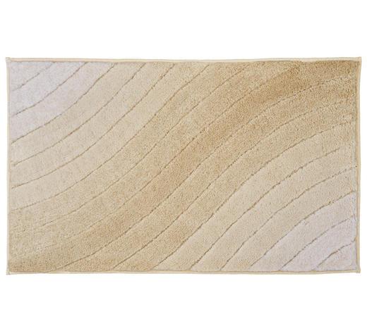 BADTEPPICH in Beige 70/120 cm - Beige, KONVENTIONELL, Kunststoff/Textil (70/120cm) - Kleine Wolke