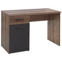 SKRIVBORD - gråbrun/svart, Design, metall/träbaserade material (110/76,5/52,7cm)