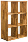 REGAL in 75,4/112,2/35 cm Buchefarben  - Buchefarben, Natur, Holz (75,4/112,2/35cm) - Carryhome