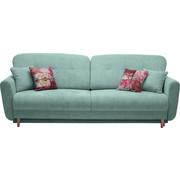 TŘÍMÍSTNÁ POHOVKA, modrá, zelená, textilie - modrá/zelená, Design, dřevo/textilie (235/87/98cm) - Hom`in