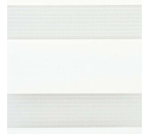 DUOROLLO  halbtransparent   140/160 cm   - Transparent/Weiß, Basics, Textil (140/160cm)