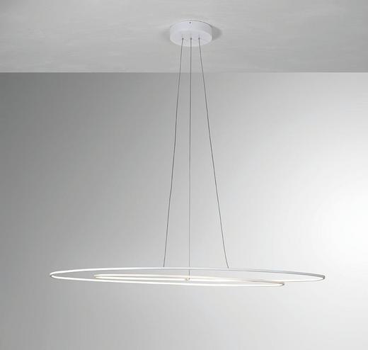 LED-HÄNGELEUCHTE - Weiß, Design, Metall (125/32cm)