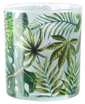 VÄRMELJUSGLAS - vit/grön, Lifestyle, glas (9/10cm) - Ambia Home