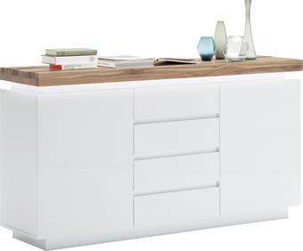 KOMODA SIDEBOARD - bílá/barvy dubu, Design, dřevo/dřevěný materiál (150/81/40cm)