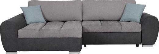 WOHNLANDSCHAFT in Textil Grau, Hellgrau, Hellblau - Chromfarben/Hellgrau, Design, Textil (175/290cm) - Carryhome