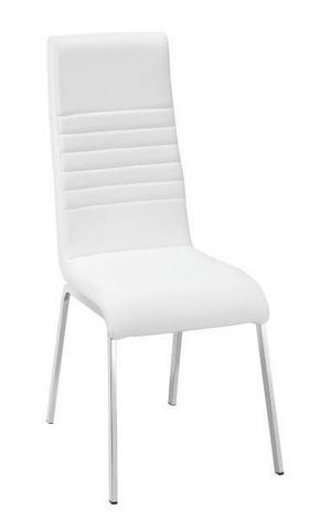 STOL - vit/kromfärg, Design, metall/textil (43/100/59cm) - Carryhome