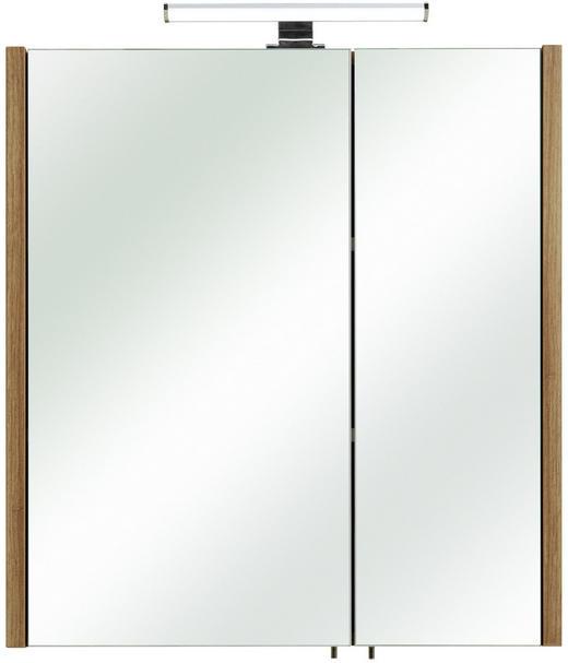 SPIEGELSCHRANK - Eichefarben, MODERN, Glas/Holzwerkstoff (62/70/20cm) - Xora