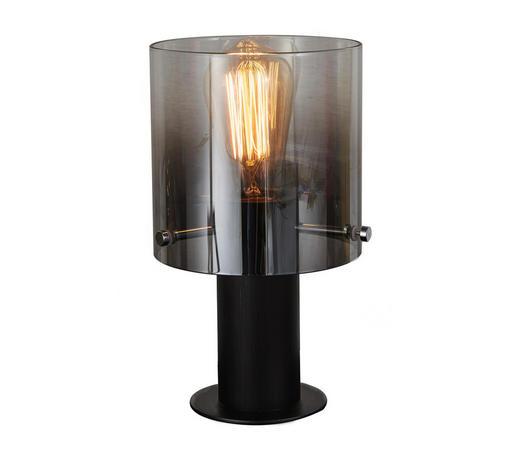 TISCHLEUCHTE - Klar/Schwarz, Design, Glas/Metall (15/26cm) - Dieter Knoll