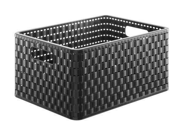 KORB - Schwarz, Basics, Kunststoff (36.8/27.8/19.1cm)