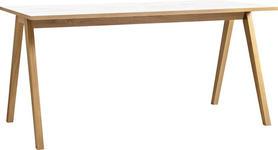 SCHREIBTISCH - Eichefarben/Weiß, Design, Holzwerkstoff (160/75/80cm) - Xora