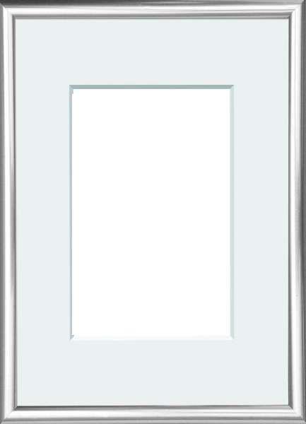 BILDERRAHMEN  Silberfarben - Silberfarben, Basics, Glas/Kunststoff (22/31cm)
