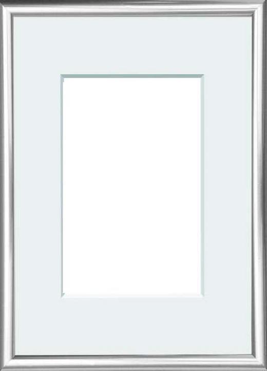 RÁM NA OBRAZY - barvy stříbra, Basics, umělá hmota/sklo (22/31cm)