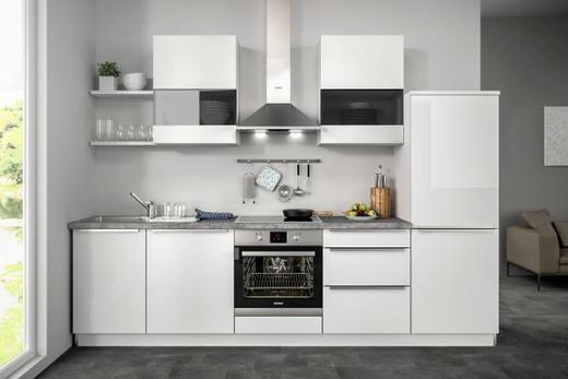 Küchenblock ohne E-Geräte 290,5 cm - Weiß, Design (290,5cm) - Set one by Musterrin