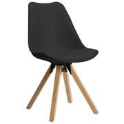ŽIDLE - šedá/barvy dubu, Design, kov/dřevo (48/82/56cm) - CARRYHOME