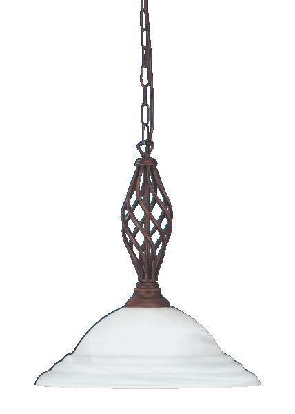 HÄNGELEUCHTE - Dunkelbraun/Weiß, LIFESTYLE, Glas/Metall (40cm)