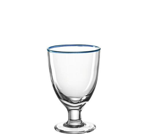 DESSERTSCHALE - Blau/Transparent, Basics, Glas (10,00/16,00/10,00cm) - Leonardo