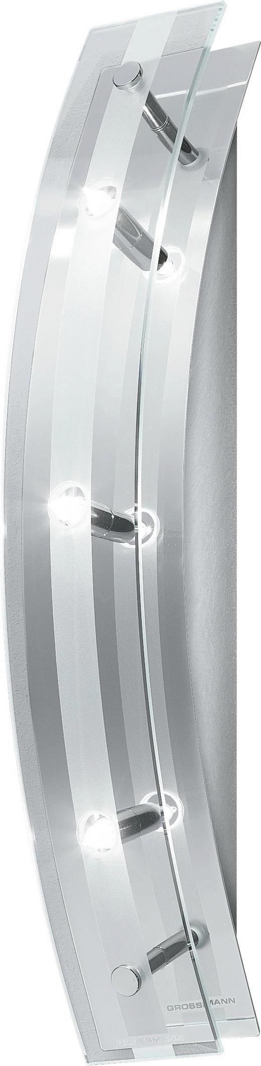 WANDLEUCHTE - KONVENTIONELL, Glas/Metall (40/7/9cm)