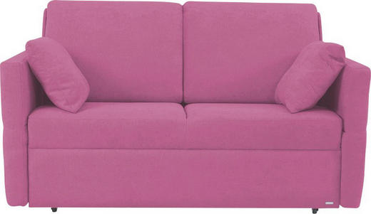 SCHLAFSOFA in Textil Pink - Pink/Schwarz, KONVENTIONELL, Kunststoff/Textil (150/88/91cm) - Sedda