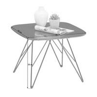 COUCHTISCH in Dunkelgrau, Schwarz - Dunkelgrau/Schwarz, Design, Holzwerkstoff/Metall (50/50/38cm) - Carryhome