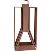 KAMINOFEN - Rostfarben, Design, Metall (81/180/35cm)