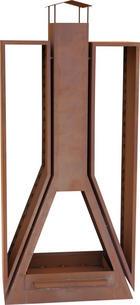 KAMINOFEN - Rostfarben, ROMANTIK / LANDHAUS, Metall (81/180/35cm)