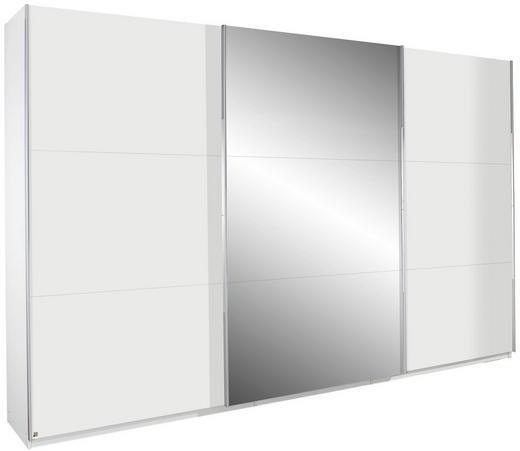 SCHWEBETÜRENSCHRANK 3-türig Weiß - Alufarben/Weiß, Design, Glas/Holzwerkstoff (360/236/69cm) - Carryhome