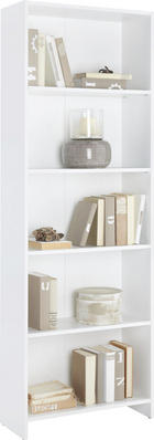 REGÁL - bílá, Design, kompozitní dřevo (60/175/24cm)