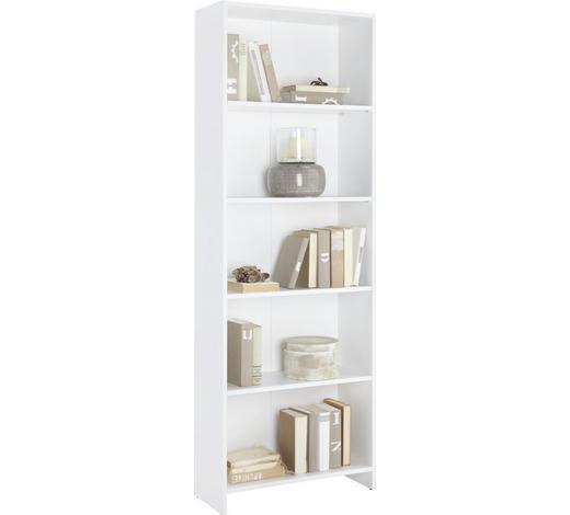 REGÁL, bílá - bílá, Design, kompozitní dřevo (60/175/24cm)