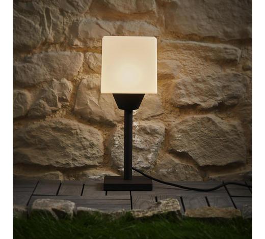 LED-AUßENLEUCHTE - Anthrazit/Weiß, Design, Kunststoff/Metall (17/47cm)
