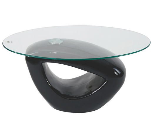 KLUB STOLIĆ - crna, Design, staklo/plastika (115/43/65cm) - Xora