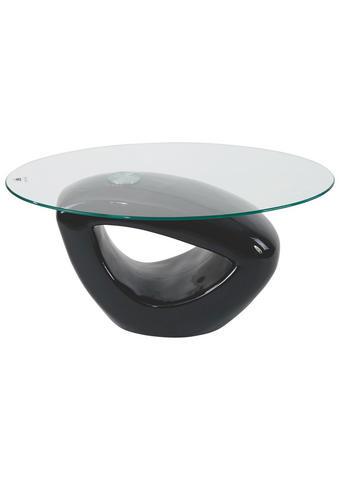 KLUBSKA MIZA, 115/43/65 cm črna  - črna, Design, umetna masa/steklo (115/43/65cm) - Xora
