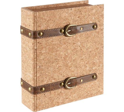 Bücherbox - Schwarz/Braun, Konventionell, Holz/Kunststoff (24/30/8cm) - Ambia Home