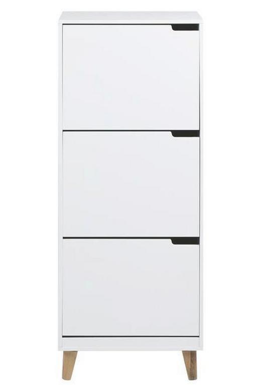 SCHUHSCHRANK - Weiß, Design, Holzwerkstoff (47/133,5/30cm) - Carryhome