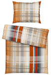 Bettwäsche Desiree - Silberfarben/Orange, ROMANTIK / LANDHAUS, Textil - James Wood
